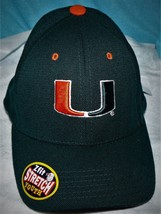 Top of the World Miami Hurricanes Youth Green Basic Logo 1-Fit Hat - $15.49
