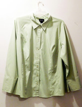 Lane Bryant Light Green Tailored Blouse - Women's Size 26/28 - Polyester... - $19.86
