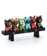 Strongwell Home Office Cat Figurines Cute Desktop Decor - $28.95