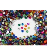 1000PCS 11mm SS48 Flat Back Acrylic Rhinestones in Bulk / Wholesale Pro ... - $27.52+