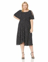 Anne Klein Women'S Size Plus Flutter Sleeve Sash Dress - $60.76+