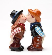Magnetic Salt and Pepper Shaker - Cowboy and Cowgirl - $14.84