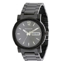 Wittnauer Black Ion Stainless Steel Chronograph Mens Watch WN3050 - $110.11