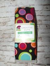 "Creative Cuts Fabric 100% Cotton 2 Yards 72"" x 44"" Black w/Circles Sewin... - $6.87"
