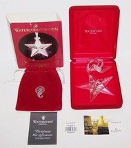 Stunning 2001 Waterford Crystal Celebrate The Season Star Ornament In Box - $50.08