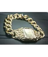IMPRESSIVE~14K Y.GOLD VEIN NUGGET 'ID' BRACELET~Designer-Look~Hefty 43.5... - $3,300.00