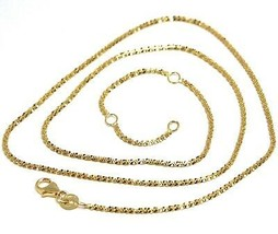 Chain Necklace Yellow Gold 18K 750, Petals, Alternating, Braid, Length 4... - $279.44