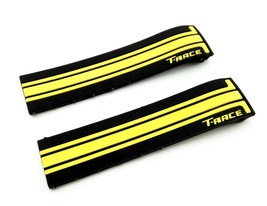 Black/Yellow Rubber Band Silicone Strap for Tissot Sport Watch T-Race 21... - $26.98+