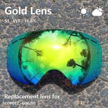 Replacement Ski Goggles Lens Skiing Magnetic Anti Fog Uv400 Spherical Sn... - $40.63