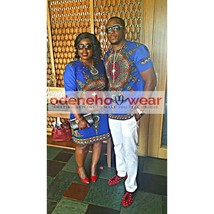 Traditional custom African couples outfit/dashiki design/Ethnic Clothig/Custom - $190.00