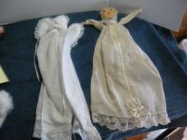 "Vintage  Handkerchief Church Doll  7"" 2 pc lot handmade doily doll Angel - $7.00"