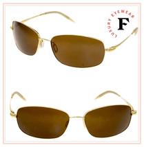 Oliver Peoples Truce Gold Brown Vfx Polarized Sport Titanium Sunglasses Unisex - $341.55