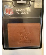 Dallas Cowboys NFL Embossed Brown Leather Tri-Fold Wallet - $19.99