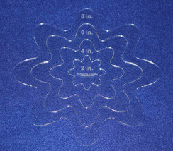 """4 Piece Nested Daisy Set 1/8"""" Clear Acrylic - Quilting/Embroidery Templates - $27.99"""