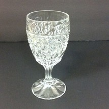 "Crystal Wine Glasses 6"" H Multisided Stem Cut Foot Clear  - $9.49"