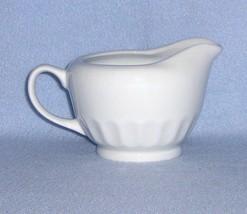 Martha Stewart Everyday White Embossed Creamer MTW21 - $5.99