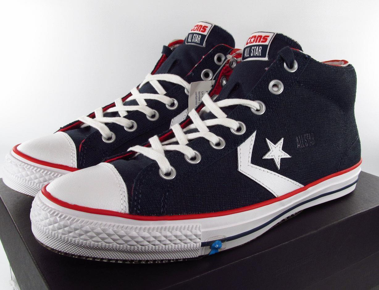 Converse Star Player Chevron Ox Lo Perforated Leather Grey Red 9