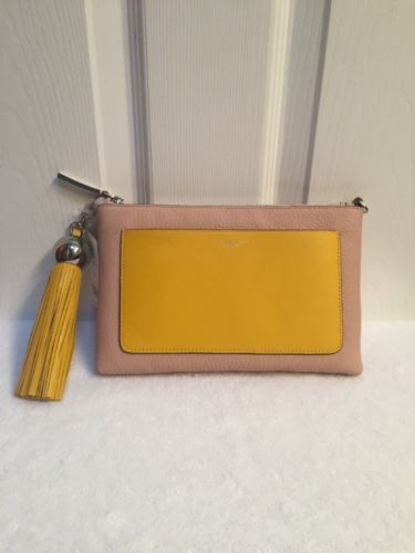 Primary image for Tory Burch Goan Sand & Daisy Color-Block Leather Tassel Crossbody Bag