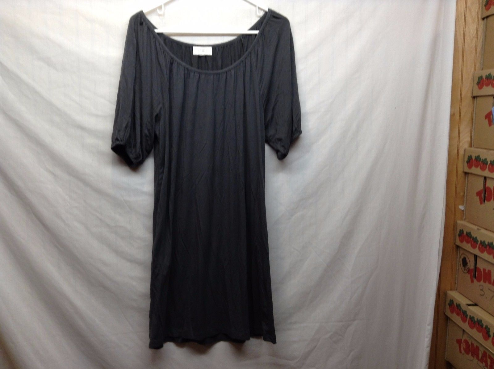 Ann Taylor LOFT Forest Green Stretchy Scoop Neck Flowy Dress
