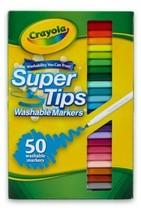 Crayola Super Tips Washable Markers 50 Colors Set (NIB) SAME-DAY FREE SHIP - $15.58