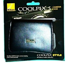 Nikon COOLPIX S Series Black Leather Case for Coolpix S3100, S4100 and ... - $14.99