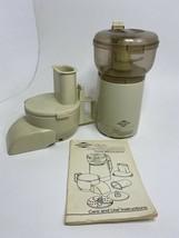 Vintage West Bend Food Processor Mixer Chopper Slicer High Performance COMPLETE - $37.18