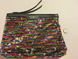 """Victoria's Secret Clutch Purse Makeup Bag Sequins Zipper 7 X 9"""" SKU 042-059 - $16.99"""