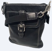 Coach Black Swingpack Crossbody Shoulder Bag ~ Flap Pocket Front Zip Poc... - $39.00
