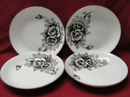 FOUR (4) I CHINA made in Japan Handpainted BLACK ROSES Pattern 5272 - SO... - $32.29