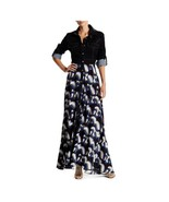 Black Faux Leather Collar Maxi Dress, Size S (38) TOV $253 - $104.86