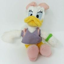 "Daisy Duck Walt Disney World 8"" Plush Pink Bow with Tags EUC - $12.16"