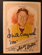 2018 Topps Allen & Ginter Phil Coyne 269 Signed AUTO Autograph Card Pira... - $56.09