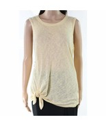 BOBEAU KNIT TUNIC TOP Tie Knot Women's Large Easter Yellow Vacation Trav... - $17.57
