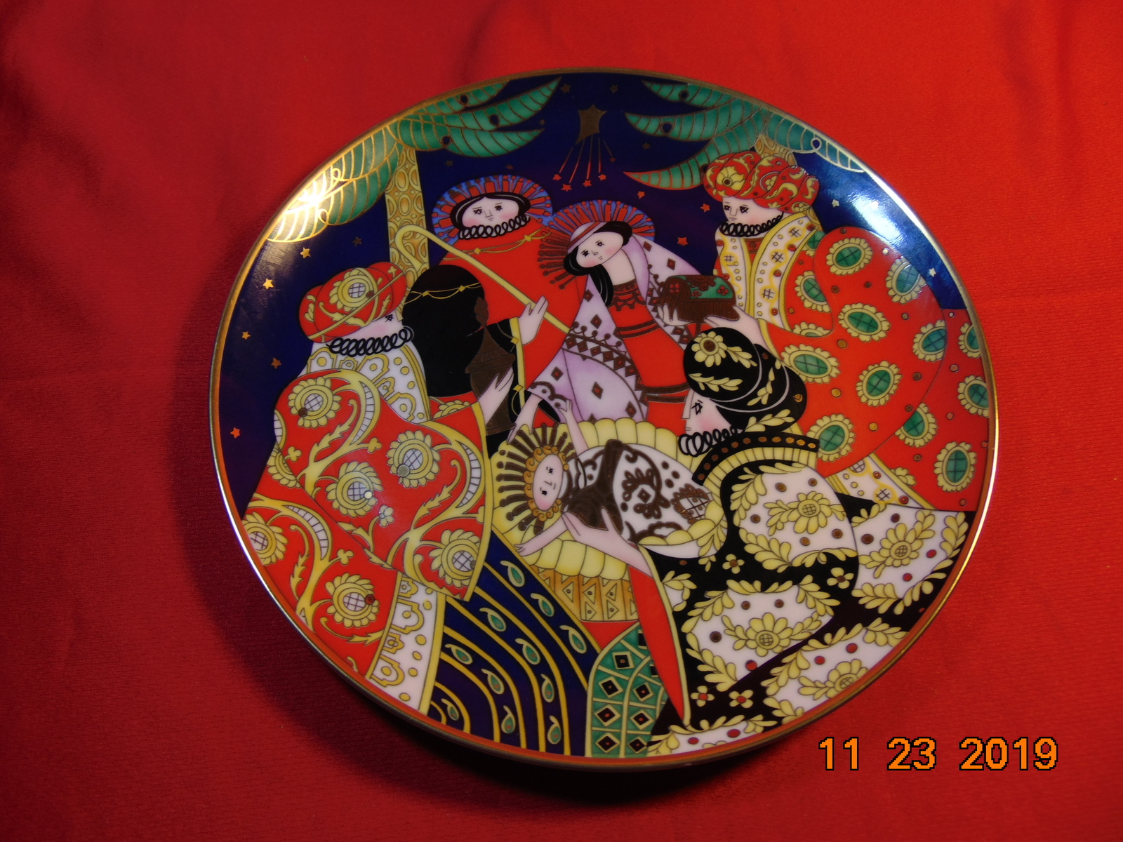 "Primary image for The Nativity, Franklin Mint's, 1991, 8"" Christmas Plate, by House of Faberge."