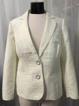 Chico's Women's Blazer Sephia Ivory Crock Lined Chico's Size 1 / 8 NWT - $32.78