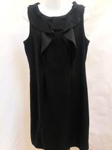 Tahari M Dress Black Ruffled Sleeveless Exposed Zip - $29.37