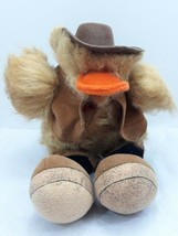 """Ganz """"Howdy"""" Plush Brown Duck in cowboy outfit 1988-1994 13"""" - $34.60"""