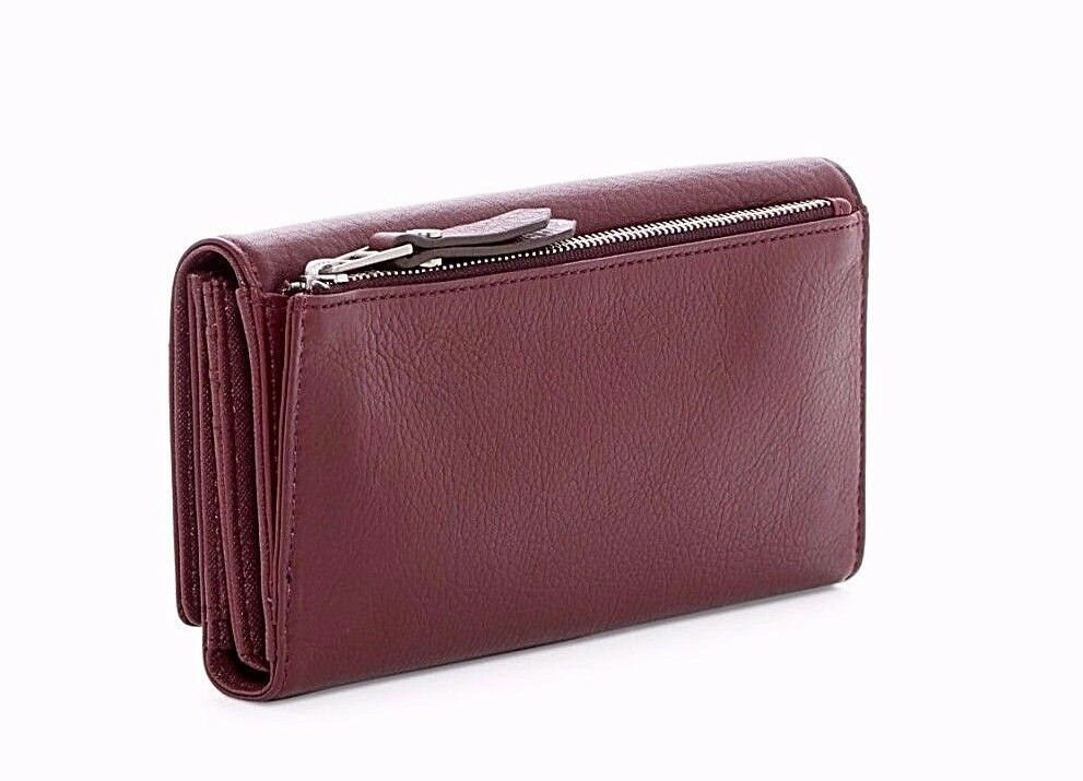New Fossil Dawson Women Flap Leather Clutch Variety Color image 4