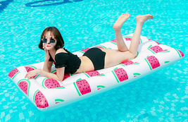 Adults Big Watermelon Inflatable Pool Raft Water Bed Hammock Ride On Float Tube image 4