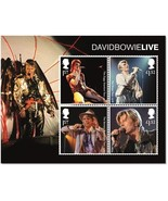 David Bowie Live Stamp Sheet - MZ123 - Great Britain Royal Stamps UK - ₹560.86 INR