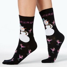 Charter Club women's Holiday Crew Socks Snowman Cheers - $3.91