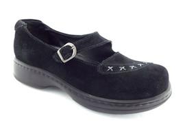 DANSKO Size 7 Black Suede Mary Jane Platfor Ballet Flats Shoes 37 - $49.00