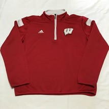 Adidas Wisconsin Sweatshirt Youth Size 10-12 1/4 zip - $9.74