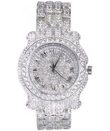 Techno Pave Totally Iced Out Pave Silver Tone Hip Hop Men's Bling Bing W... - $77.84