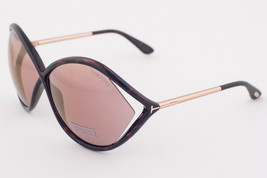 Tom Ford LIORA Havana & Gold / Pink Mirrored Flash Sunglasses TF528 52Z - $165.62
