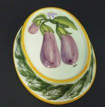 Ceramic Wall Decor Baking Mold Egg Plant made GA USA Artist Signed 8x6 - $30.36