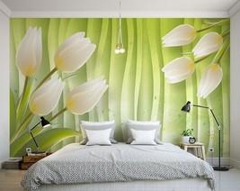 3D Weiße Tulpen 355 Fototapeten Wandbild Fototapete BildTapete Familie - $52.21+