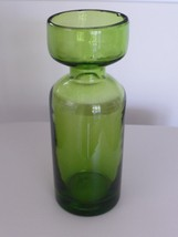 "MID CENTURY 8.5"" GREEN GLASS CARAFE - $45.00"