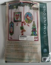 Dimensions Counted Cross Stitch Kit Jingle Bell Ornaments Christmas plas... - $13.55