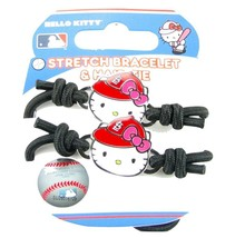 St Louis Cardinals Hello Kitty Red Black Hair Tie Bracelet Two Piece Set... - $10.81